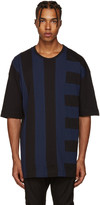 Diesel Black Gold Blue & Black Panelled T-Shirt