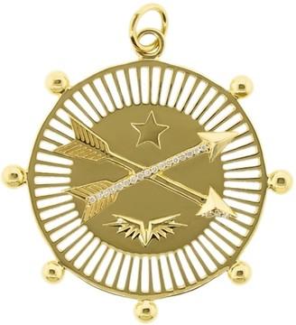 Foundrae 18kt yellow gold large diamond Passion pendant