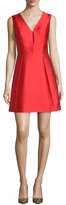 Kate Spade Sleeveless Bow-Back Fit-And-Flare Dress