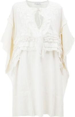 Faith Connexion Embroidered Mid-Length Dress