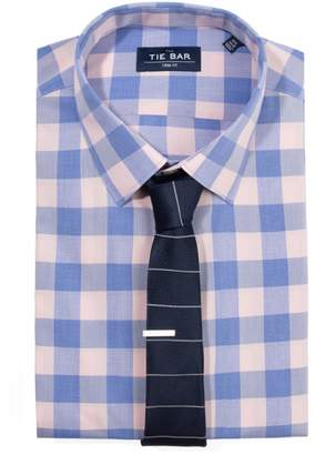 The Tie BarThe Tie Bar Pink Bold Gingham Non-Iron Shirt