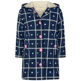 Hatley HatleyGirls Navy Plaid Hearts Splash Jacket
