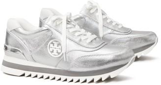 Tory Burch Sawtooth Metallic Sneaker