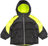 Pacific Trail Black & Yellow Color Block Puffer Jacket - Toddler & Boys