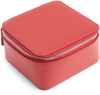 Royce New York Zipper Leather Travel Jewelry Case