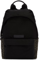 McQ by Alexander McQueen Black Nylon Leopard Backpack