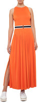 Akris Punto Belted Sleeveless Maxi Dress, Coral