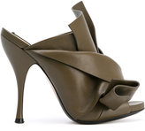 No.21 bow mules - women - Calf Leather/Leather - 38.5