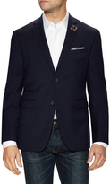 Original Penguin Wool Navy Solid Notch Lapel Sportcoat