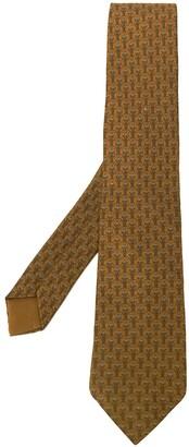 Hermes Pre-Owned 2000's floral pattern tie