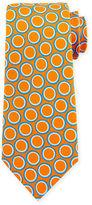 Kiton Circle-Pattern Silk Tie