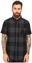 VISSLA Black Light Short Sleeve Plaid Woven