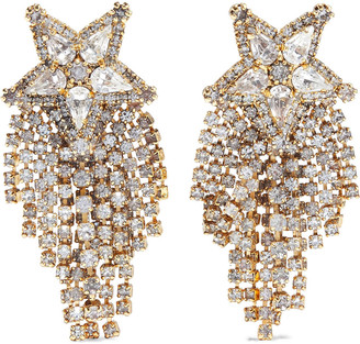 Elizabeth Cole Austen 24-karat Gold-plated Crystal Earrings