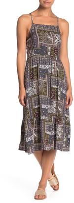 Hiatus Patterned Sleeveless Midi Dress
