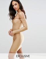 NaaNaa Bardot Midi Dress with Choker