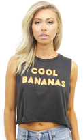 Mate The Label Cool Bananas Mate Crop Top in Vintage Black