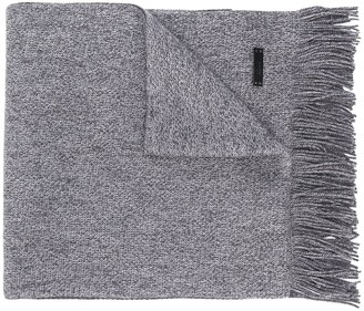 HUGO BOSS Logo Patch Knitted Scarf