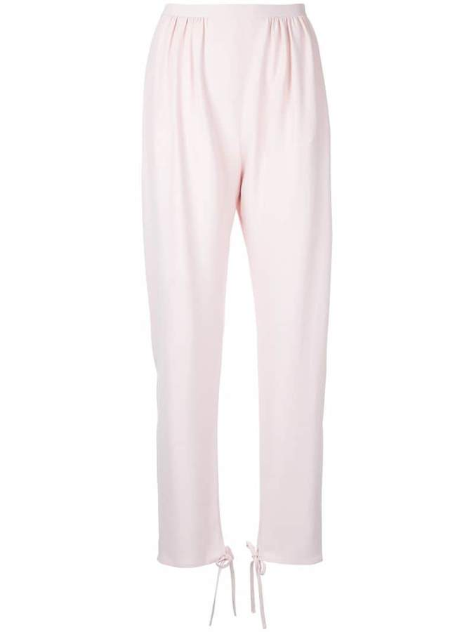 Chloé tie ankle cuff trousers