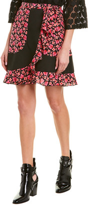 Anna Sui Wildflowers In The Wind Silk Mini Skirt