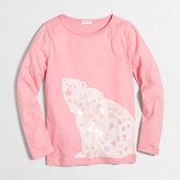 J.Crew Factory Girls' long-sleeve polar bear keepsake T-shirt