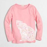 J.Crew Factory Girls' long-sleeve polar bear keepsake T-shirt