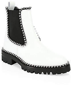 Alexander Wang Women's Spencer Studded Leather Combat Boots