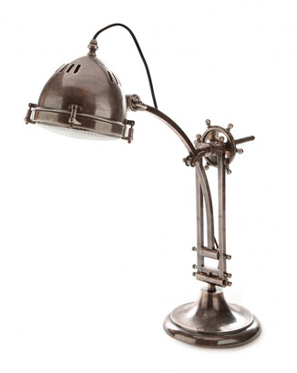 Emac & Lawton Seabury Desk Lamp Antique Silver