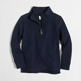 J.Crew Factory Boys' sueded half-zip popover sweatshirt