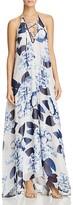 Show Me Your Mumu Logan Floral Lace-Up Maxi Dress