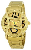 JBW Women's JB-6214-B Olympia Japanese Movement Stainless Steel Real Diamond Watch - Gold