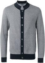 Eleventy contrasting trim cardigan