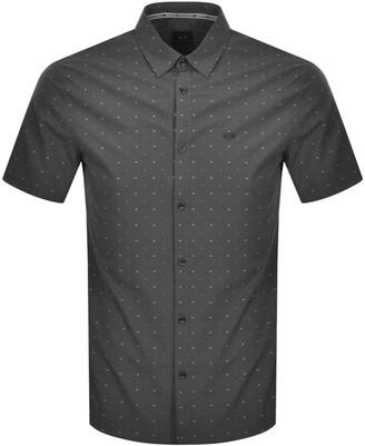 Armani Exchange Regular Short Sleeved Shirt Grey