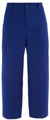 Toogood - The Conductor Patch-pocket Cotton Trousers - Mens - Blue