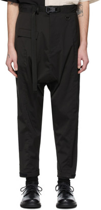 The Viridi-anne Black Panelled Cargo Pants