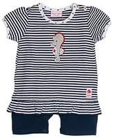 Salt&Pepper Salt and Pepper Baby Girls' BG Playsuit Kurz Stripe Footies,(EU)