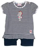 Salt&Pepper Salt & Pepper Baby Girls' BG Playsuit Kurz Stripe Footies,(EU)