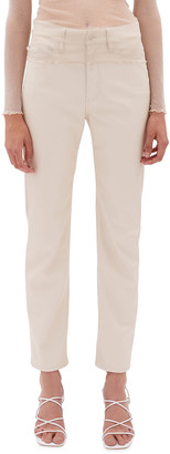 JONATHAN SIMKHAI STANDARD Logan Stretch Vegan-Leather Cigarette Pant