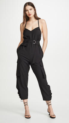 Tibi Tropical Wool Jumpsuit