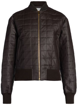 Bottega Veneta Quilted Leather & Silk Bomber Jacket