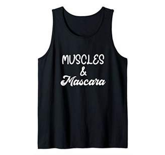 Cute Workout Quote for Women Muscles and Mascara Tank Top