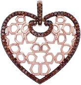 TheJewelryMaster 0.25ctw Brilliant Round Diamond Heart Pendant