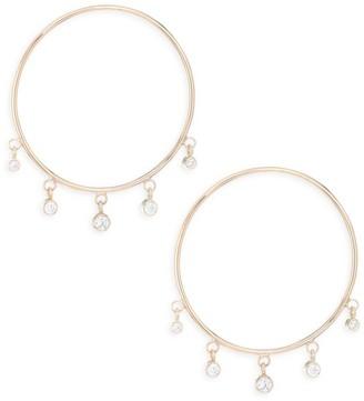 Zoë Chicco Gold Hoop Diamond Drop Earrings