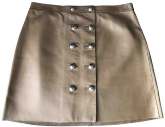 Gucci Camel Leather Skirts