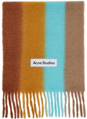 Acne Studios Orange Striped Scarf