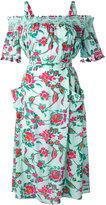Tanya Taylor floral bardot dress - women - Silk - 2
