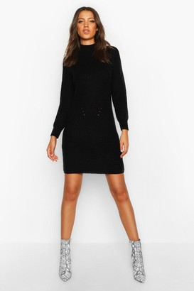 boohoo Tall Ribbed Knitted Sweater Dress
