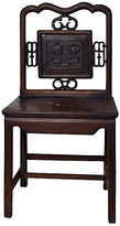 One Kings Lane Vintage Antique Chinese Carved Medallion Chair - FEA Home - lacquered