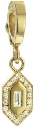 Azlee Diamond Small N/S Charm in Yellow Gold