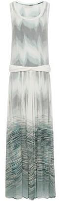 Missoni Twist-front Degrade Open-knit Maxi Dress