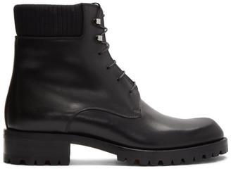Christian Louboutin Black Calfskin Trapman 20 Crosta Wax Boots